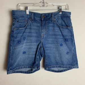 Levi's Flowers Embroidered Jean Shorts